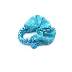 "Chouchou ""Choupette"" Blue wind mix bleu B"