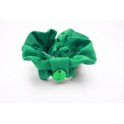 """Chouchou """"Choupette""""  Emerald pleats B"""