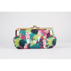 Trousse lunettes (Perruches roses)