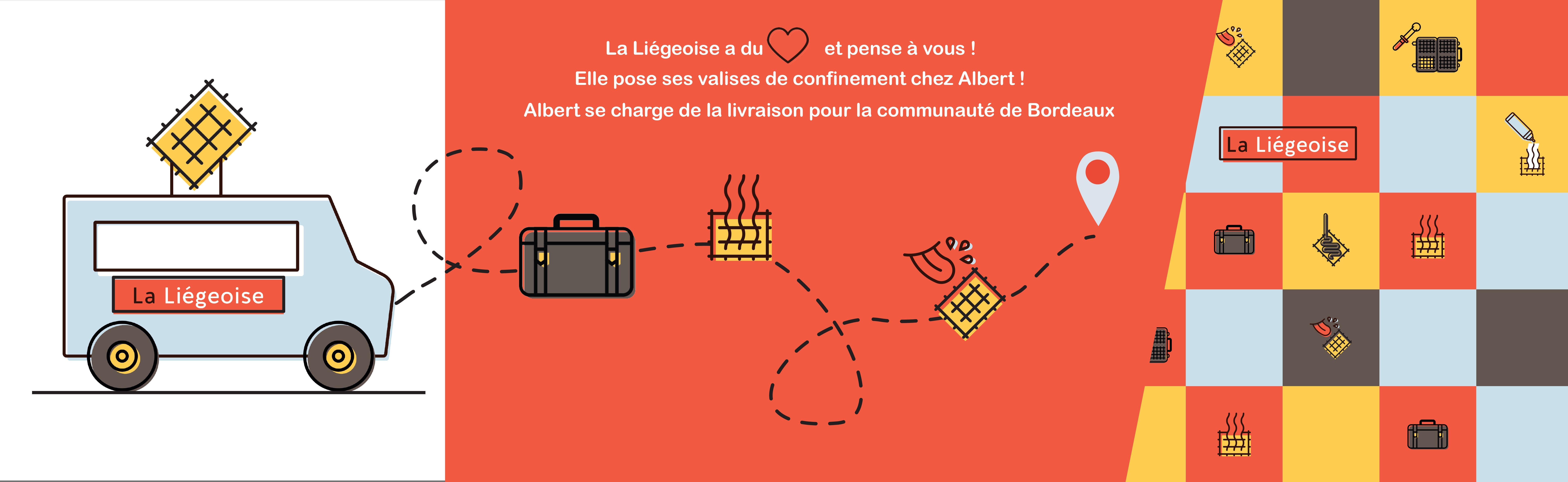 La Liégeoise pose ses valises de confinement chez Albert! Livraison offerte dans toute la communauté de Bordeaux!